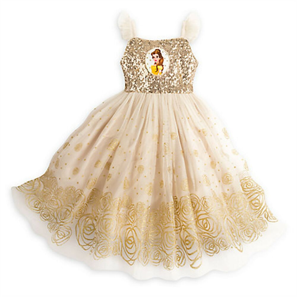7467af2b3 Details about Disney Store Belle Princess Party Dress Holiday Beauty Beast  Costume SOLD OUT