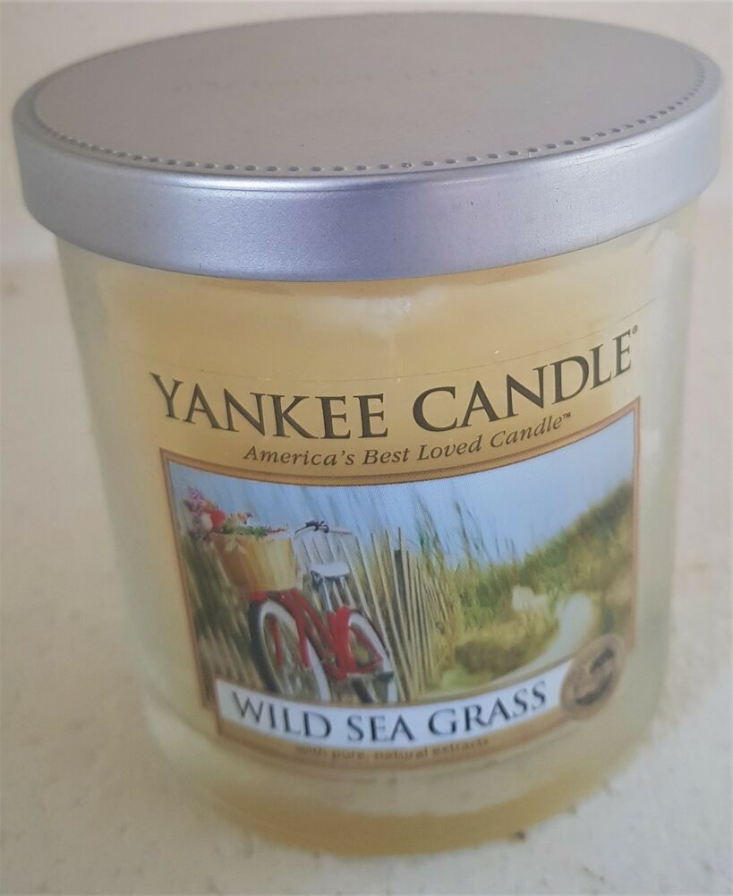 Candles & Tea Lights Home Decor Yankee Candle Wild Sea Grass Tumbler 90mm tall  New  unused.