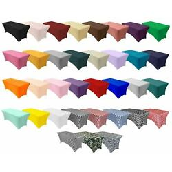 Kyпить YCC Linens - Stretch Spandex Table Covers, Fitted Rectangular Tablecloths на еВаy.соm