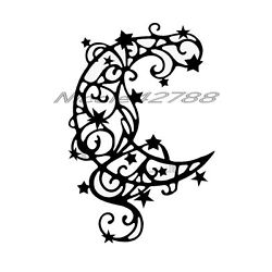 Vinyl Moon and Star Decal/Wall/Laptop/Tablet /Car Decal/Art n Crafts/Embelishmet