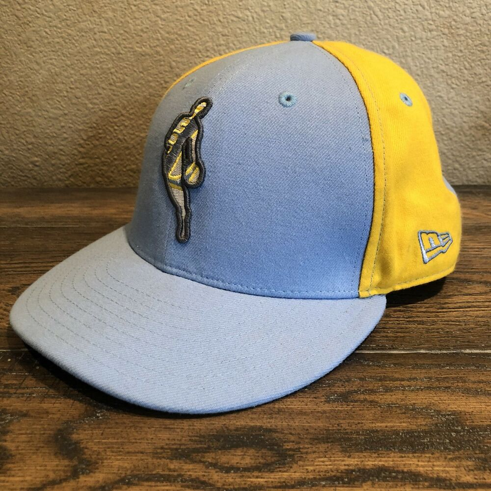 Details about LA LAKERS New Era Cap 59Fifty Yellow and Blue NBA Logo Wool Cap  Fitted Hat 7 3 8 bda48f99093