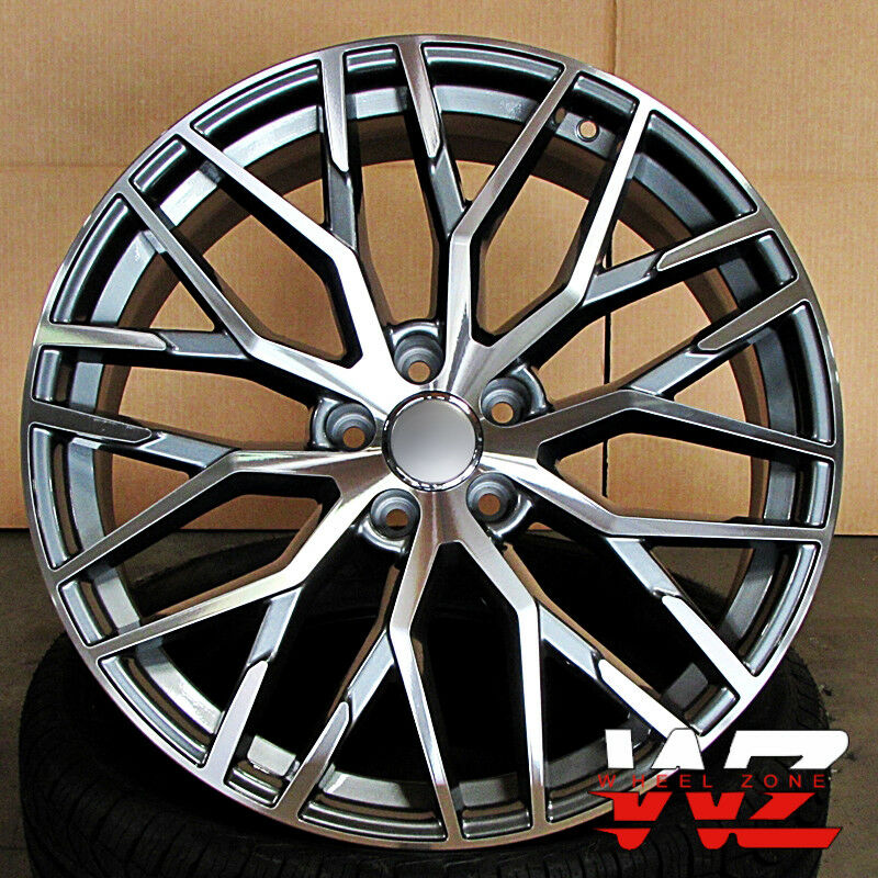 20 In R8 1349 Style Wheels Gunmetal Machined Fits Audi A7