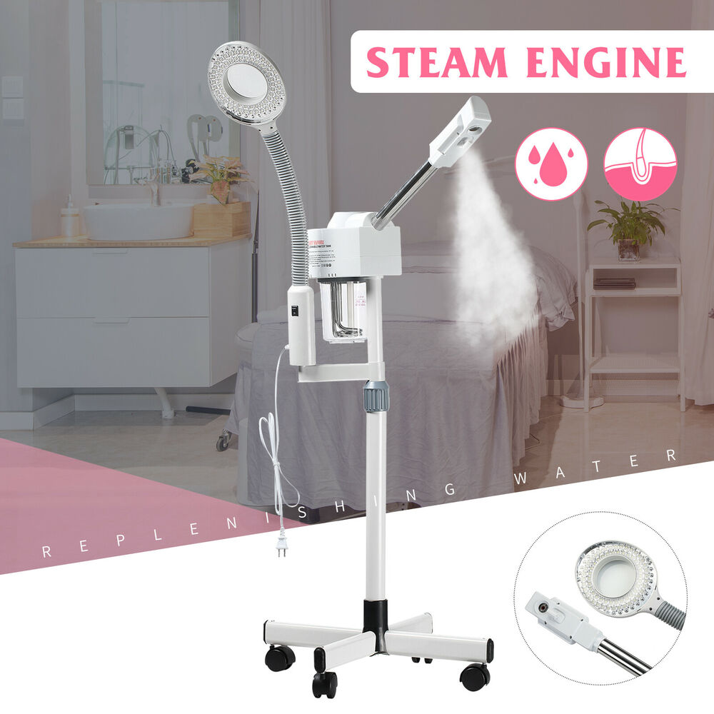 2in1 5x Magnifying Lamp + Facial Steamer Hot Ozone Salon