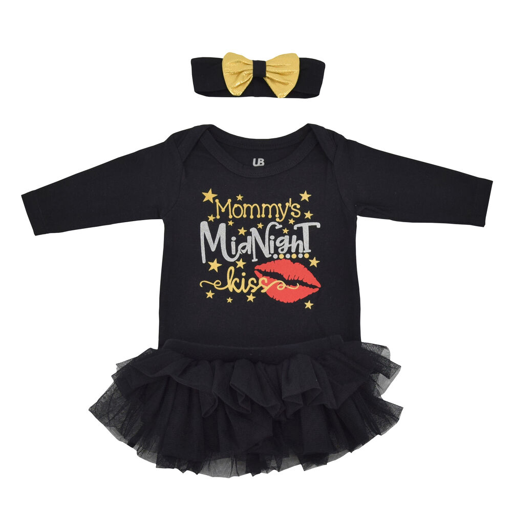 bdcc776212b6 Girls New Years Eve Kiss Party Tutu Layette Boutique Toddler Kids Clothes |  eBay