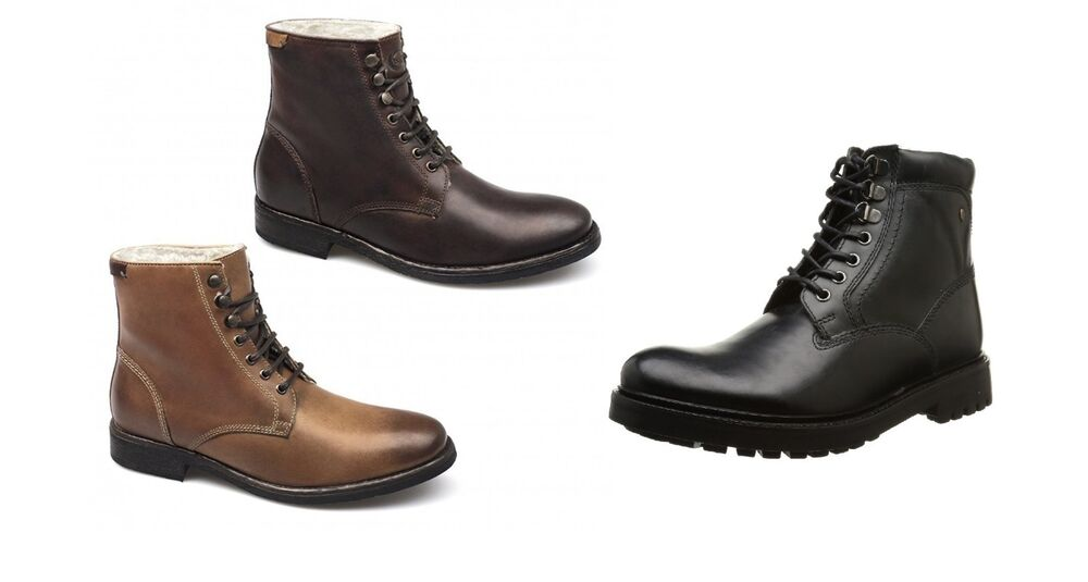 539b0bf571b9 Details about Mens Guys Base London ROEBUCK Leather Worker Ankle Boots UK  Size 6 7 9 10