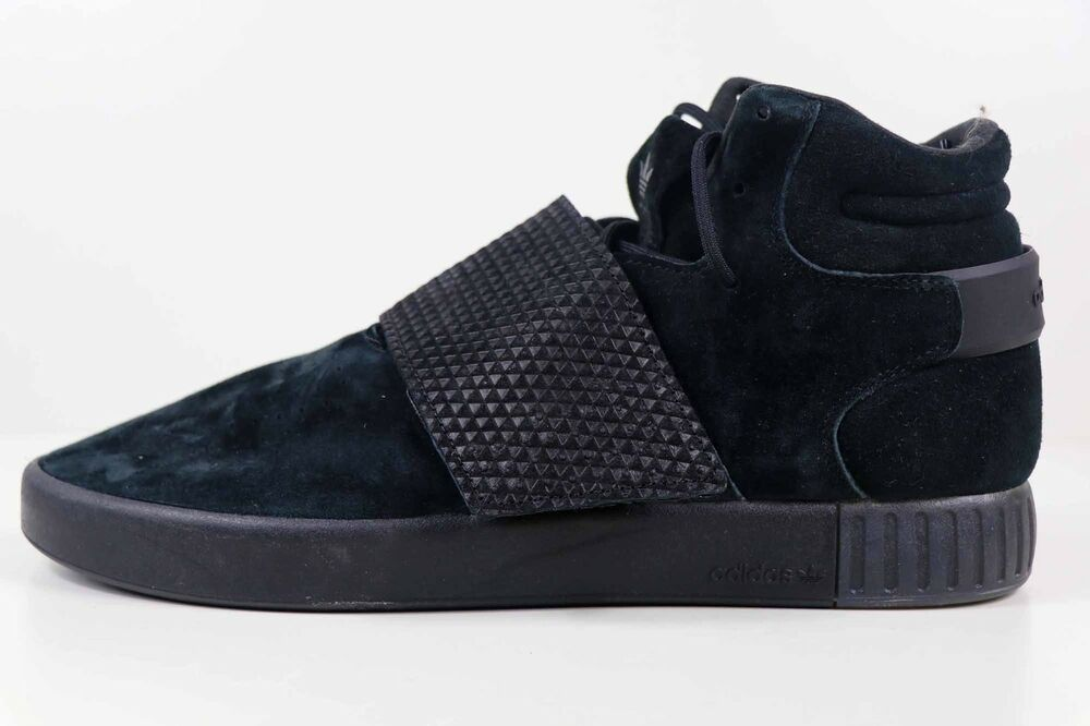 new style 83ee5 3630d Adidas Tubular Invader Strap Triple Black BB1169 Size 10.5 New   eBay