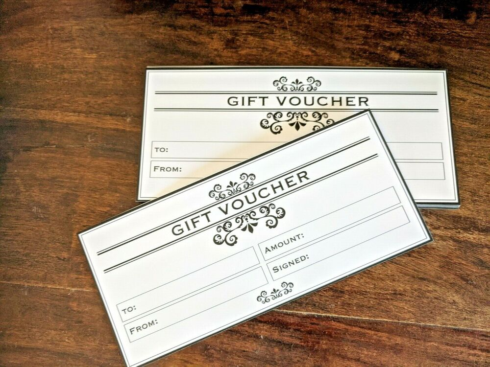 12 X Blank Gift Voucher Certificates Generic Gift Cards Dl Business