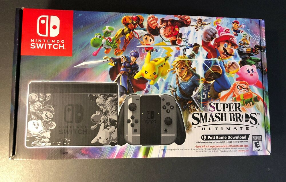 Nintendo Switch Super Smash Bros Ultimate Limited Edition Bundle New