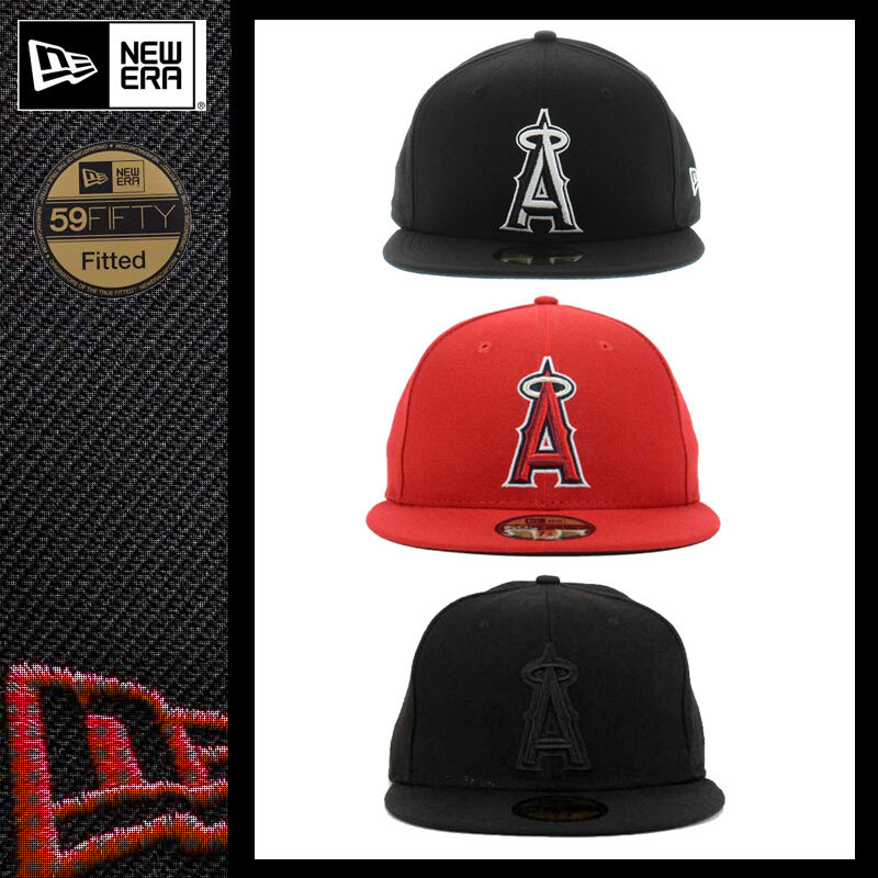 Details about New Era 5950 LOS ANGELES ANAHEIM ANGELS Team Cap LA MLB  Baseball Fitted Hat Red 47183e006d7