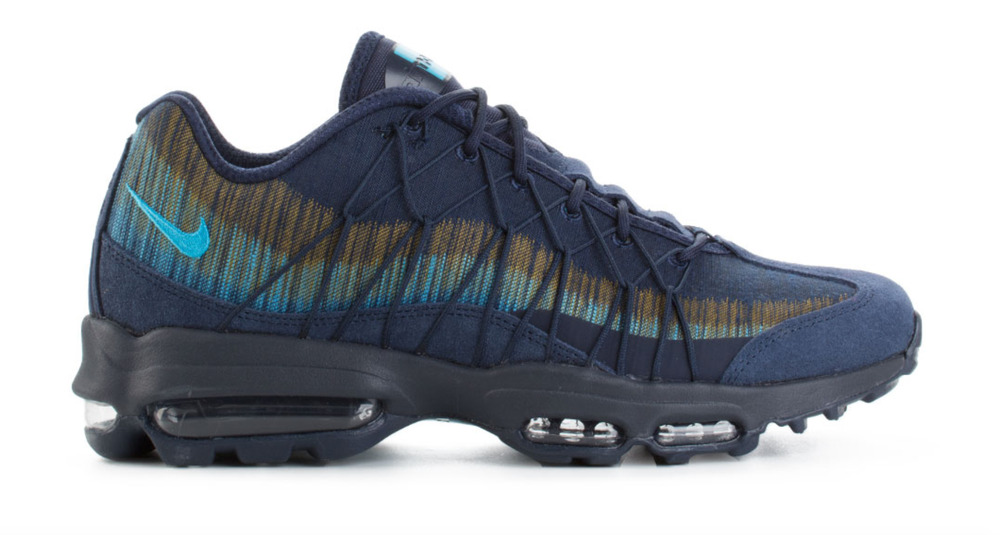 uk availability 9c62e 17172 Details about Nike Air Max 95 Ultra Jacquard Navy Blue Air Unit 749771-402  185 Mens SZS 7-12