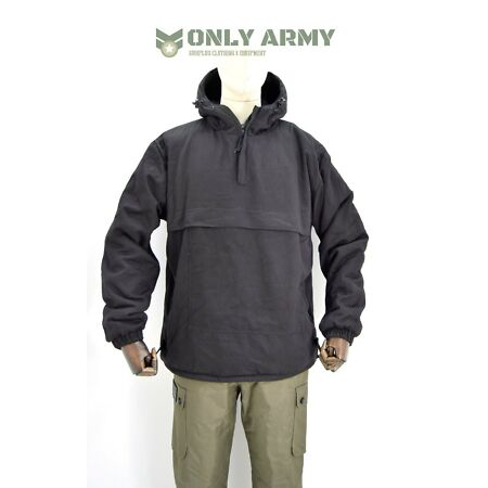 img-Army OD Green Fur Lined Winter Smock Canvas Anorak Buffalo Top Hooded Jacket