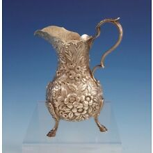 Repousse by Kirk Sterling Silver Cream Pitcher w/ Applied Handle / Feet (#3015)