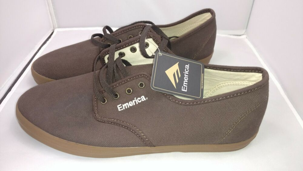 a609b41720265 Details about Emerica Wino Brown Low Top Skate Surf Skateboarding Shoes  Men s Size 9.5 Pacsun