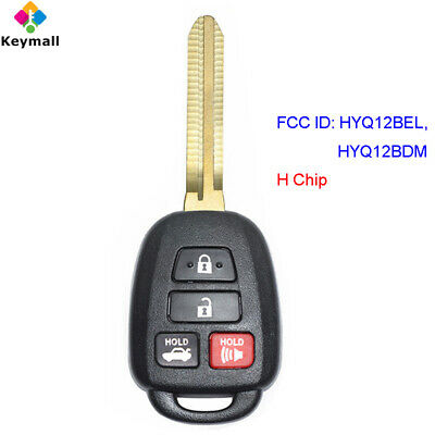 for Toyota Camry 2014 2015 2016 2017 2018 Remote Fob H Chip HYQ12BEL HYQ12BDM