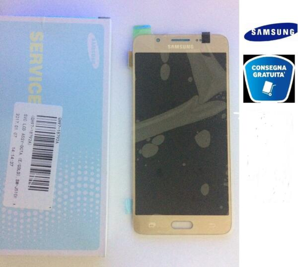 DISPLAY SCHERMO LCD + TOUCH ORIGINALE GOLD PER SAMSUNG GALAXY J5 2016 SM-J510