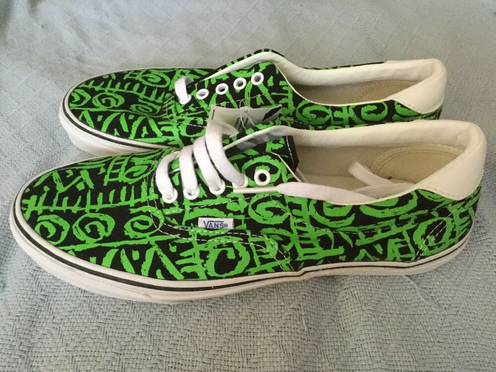 7fbe3fb8e2 Details about AUTHENTIC VANS VAN DOREN ERA 59 TRIBAL GREEN BLACK MENS SHOES  MENS 8 WOMENS 9.5