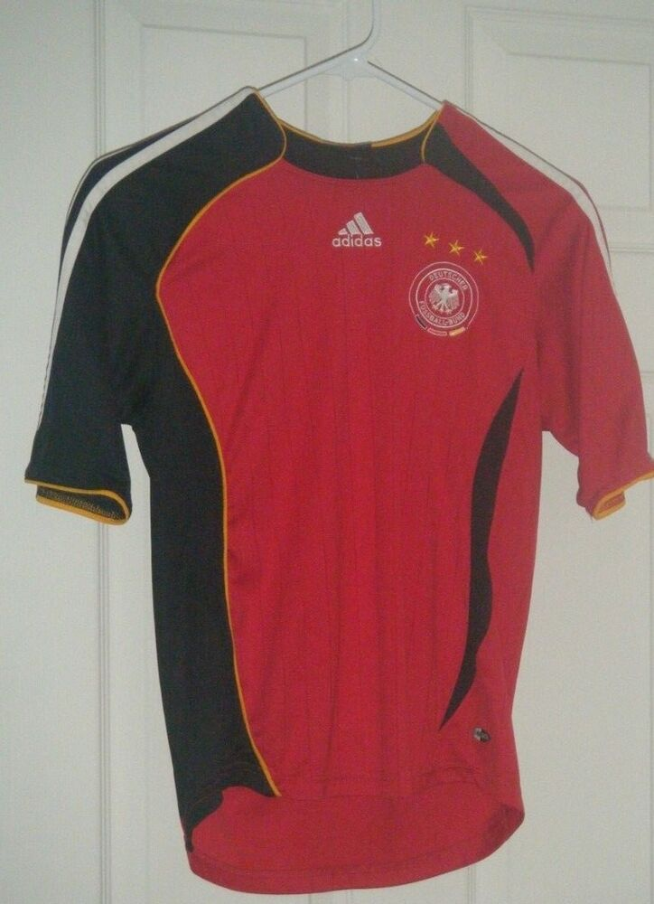 eea3e223147 Details about Germany National Team Men's Black/Red Soccer Jersey - Adidas  - Youth Medium Used