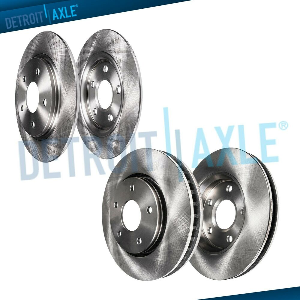 All (4) Front & Rear Brake Rotors For 2004 2005 2006 2007