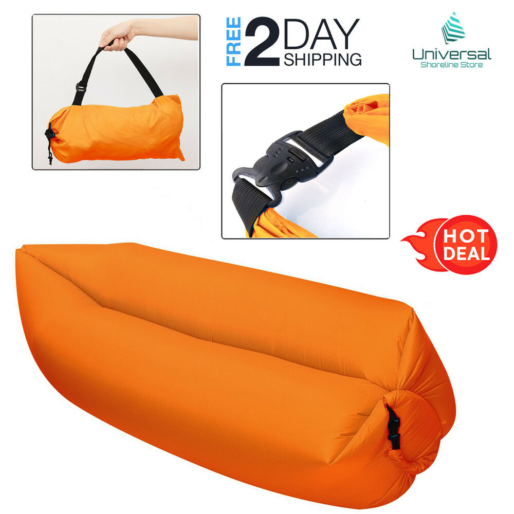 Inflatable Lazy Air Bed Portable Couch Sofa Lounge Travel