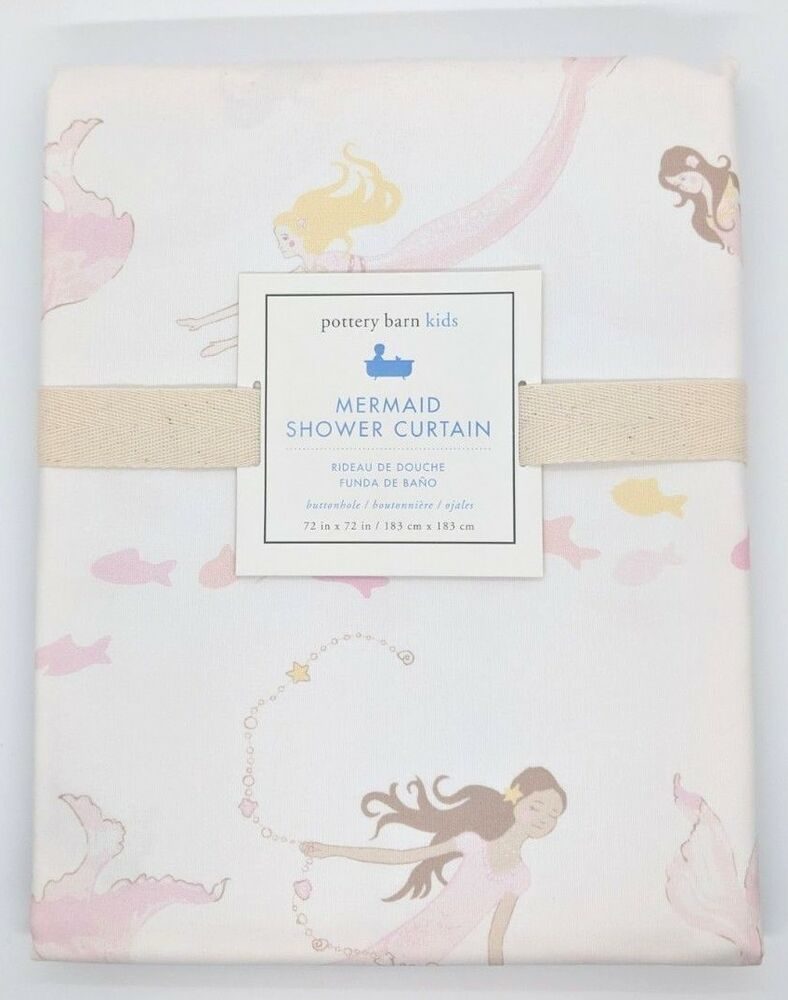 pottery barn kids ~ mermaid shower curtain ebaydetails about pottery barn kids ~ mermaid shower curtain