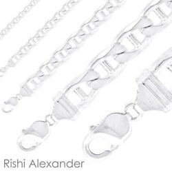 Kyпить Real Solid 925 Sterling Silver Mens Mariner Chain Link Bracelet or Necklace  на еВаy.соm