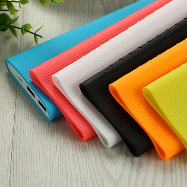 Anti-slip Silicone Protection Case Skin Cover For Xiaomi 10000mAh Power Bank 2