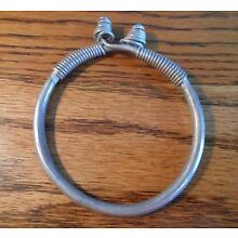 Old Miao / Mien Coin Silver Hill Tribe Tribal Coiled Bracelet Laos