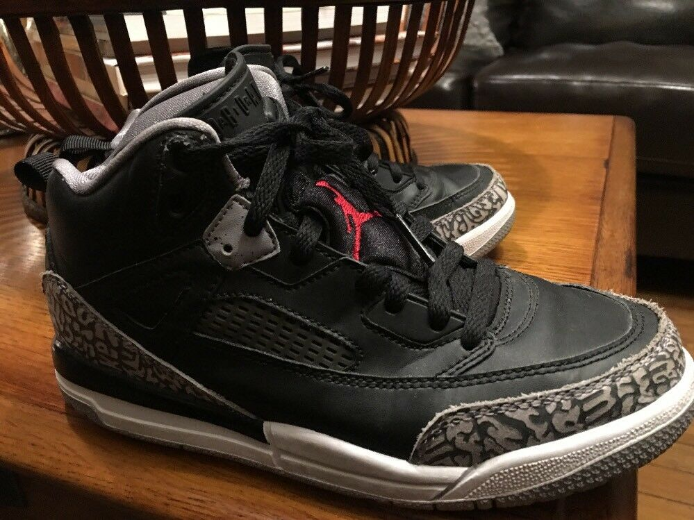 8f0651a66ba2 Details about Nike Air Jordan 3 III Retro Bp Black  Fire Red Cement Grey  429487-021 size 3 y