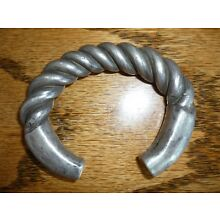 Heavy Old Coin Silver Hill Tribe Tribal Coiled Currency Bracelet Laos – 205 g