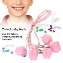 Plastic Baby Milk Teeth Holder Boxes Save Tooth Storage Case Kids Toys  Necklace