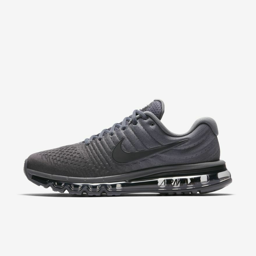 7df77ec0bd13 Details about Nike Air Max 2017 Cool Grey Anthracite Dark Grey 849559-008  Men s Running Shoes