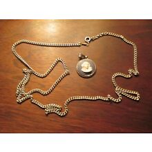 Beautiful Vintage Sterling Silver Blue Wedgewood Cameo - 30'' sterling chain!