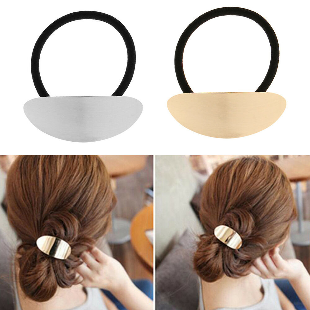 Details about Hair Ponytail Ring Cover Metal Cuff Wrap Holder Elastic Style  Band Pony DIY 720c7d97908
