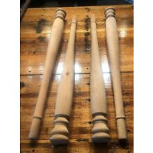 """4-30"""" Table Legs Unfinished Wood Kitchen Dining Primitive Antique Spindle"""