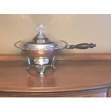 Oneida Sterling Silver 4pcs  chafing dish with burner