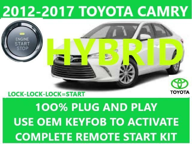 Details About Plug Play Remote Start Toyota Camry Hybrid 2017