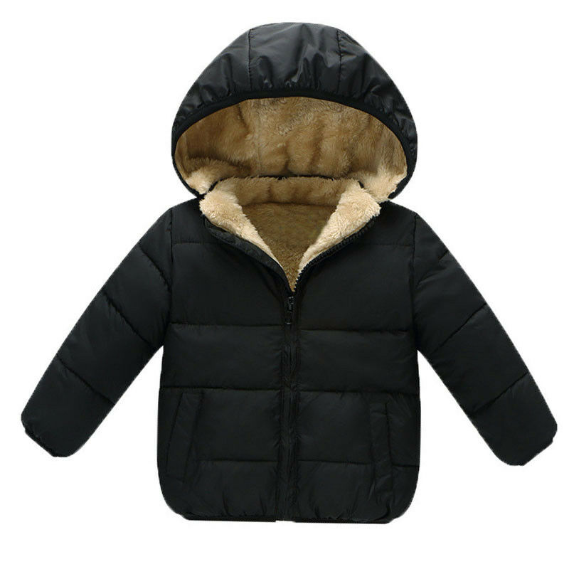 31ee9c9c3ab97 Details about Baby Boy Girl Warm Coats Infant Thicken Velvet Jacket For  Toddler Down Outerwear
