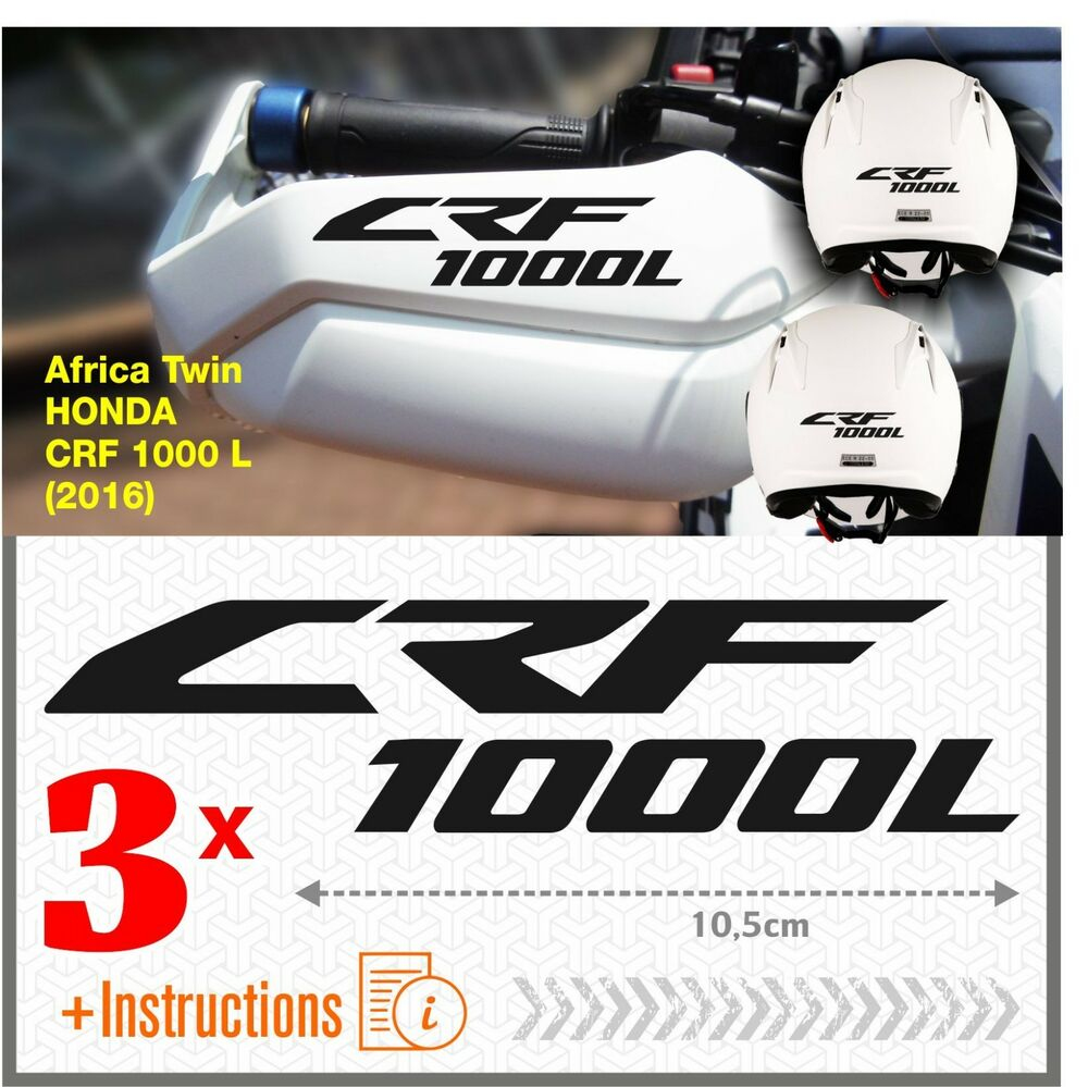 Details about 3x crf 1000 l black africa twin honda 16 stickers crf1000 l crf1000l motorrad