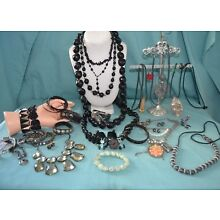 Large Lot Of Goth/Steam Punk Jewelry: Necklaces, Bracelets & Earrings  (CO)