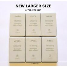 AVEDA 6 Refreshing Cleansing Bar SOAP 1.77 oz / 50g ea NEW LARGER DOUBLE SIZE