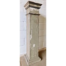 1910s Wooden Antique Tapered PORCH COLUMN With Cap & Base CRAFTSMAN Style ORNATE