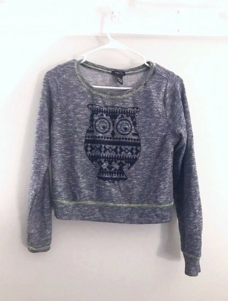 Details about Cropped Sweater Lot Size Small Juniors Teens Forever 21 Rue  21 Blue Marl Sport