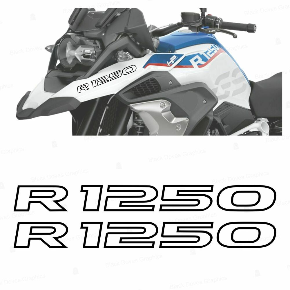 Details about 2pcs r1250 black bmw r 1250 gs 2019 hp motorcycle stickers stickers adventure