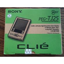 Sony PEG-TJ25 CLIE in Original Open Box with instructions Palm os5