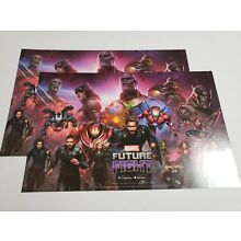 SDCC 2018 Exclusive LOT 2 Marvel FUTURE FIGHT Game Promo Poster 17 x 11 Avengers