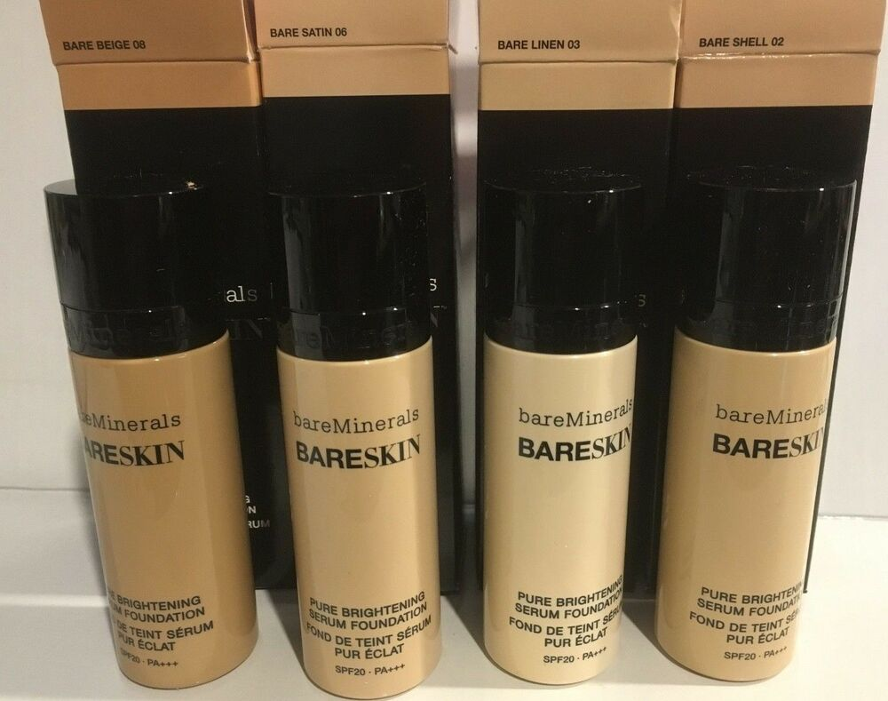 Bare Linen 03 Easy To Lubricate Bareminerals Bareskin Pure Brightening Serum Foundation Spf 20 Anti-aging Products