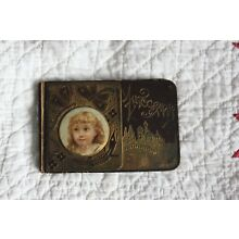AUTOGRAPH BOOK OLD-1877-INDIANAPOLIS INDIANA-NAME IN BOOK CORA DUCKWORTH 1897