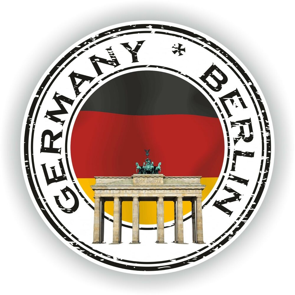 Details about germany berlin stamp seal sticker decal for laptop tablet fridge door