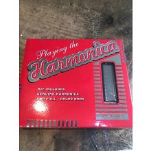 Playing The Harmonica- Set With Instruction Book And Harmonica