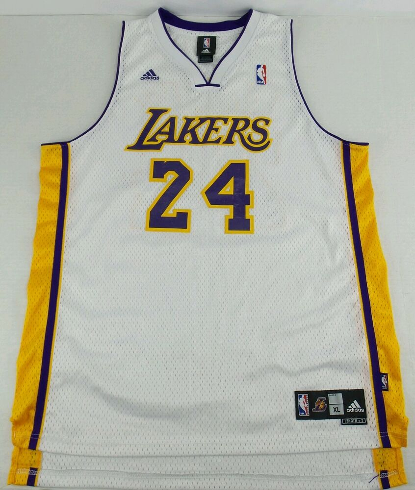 1aa43cee7a9 Details about Vintage Adidas Los Angeles Lakers Kobe Bryant Basketball  Jersey Size Mens XL